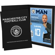 Personalised Manchester City FC Magazine Front Cover Photo Folder