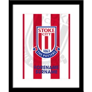 Personalised Stoke City FC Bold Crest Framed Print