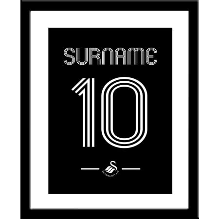 Personalised Swansea City Retro Shirt Framed Print