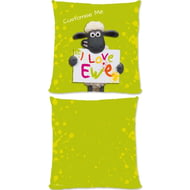 Personalised Shaun The Sheep Valentines Print Cushion - 45x45cm