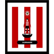 Personalised Brentford Player Figure Framed Print