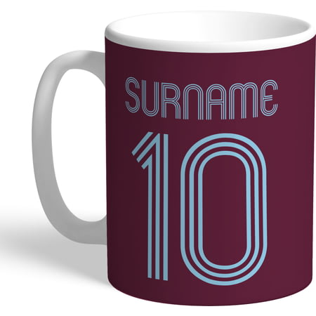 Personalised Burnley FC Retro Shirt Mug