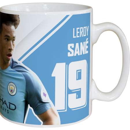 Personalised Manchester City FC Sane Autograph Mug