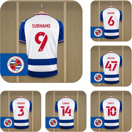 Personalised Reading FC Dressing Room Shirts Coasters Set of 6