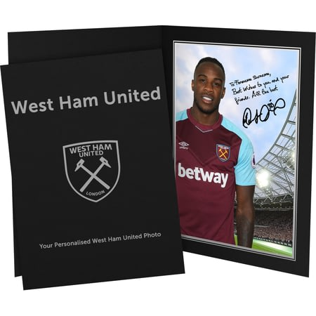Personalised West Ham United FC Antonio Autograph Photo Folder