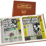 Personalised Plymouth Football Newspaper Book - Leatherette Cover