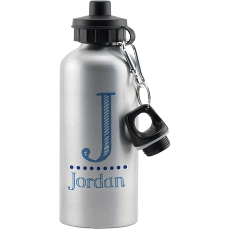 Personalised Blue Name Aluminium Drinks Bottle
