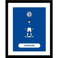 Personalised Chelsea FC Player Figure Framed Print