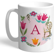 Personalised Disney Princess Aurora Initial Mug