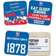 Personalised Ipswich Town FC Coasters