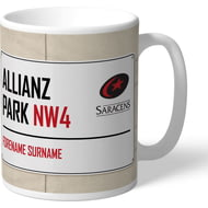 Personalised Saracens Allianz Park Street Sign Mug