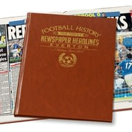 Personalised Everton Football Newspaper Book - A3 Leatherette Cover