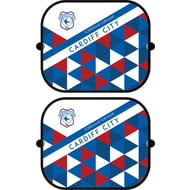 Personalised Cardiff City FC Patterned Pair of Car Sunshades