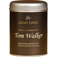 Personalised Coffee Tin Traditional Design