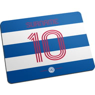 Personalised Queens Park Rangers FC Retro Shirt Mouse Mat