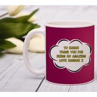 Personalised Super Step-Mum Ceramic Mug