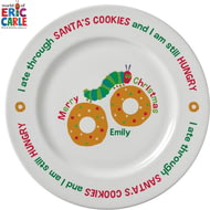 "Personalised Very Hungry Caterpillar Santa's Cookies 8"" Plate"