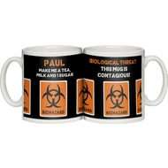 "Personalised ""Biohazard"" Ceramic Mug"