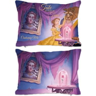Personalised Disney Beauty And The Beast Picture Scene Rectangle Cushion - 45x30cm