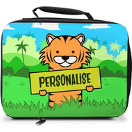 Personalised Kids Tiger Insulated Lunch Bag