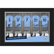 Personalised Manchester City FC 9x6 Dressing Room Shirts Photo Folder