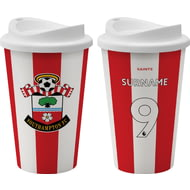 Personalised Southampton FC Back Of Shirt 350ml Reusable Tea / Coffee Cup