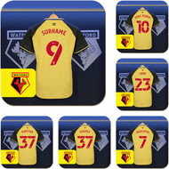 Personalised Watford FC Dressing Room Shirts Coasters Set of 6