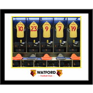 Personalised Watford FC Dressing Room Shirts Framed Print