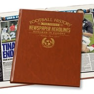 Personalised Rangers In Europe Football Newspaper Book - Leatherette Cover
