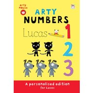 Personalised Arty Mouse Numbers Childrens Activity Book