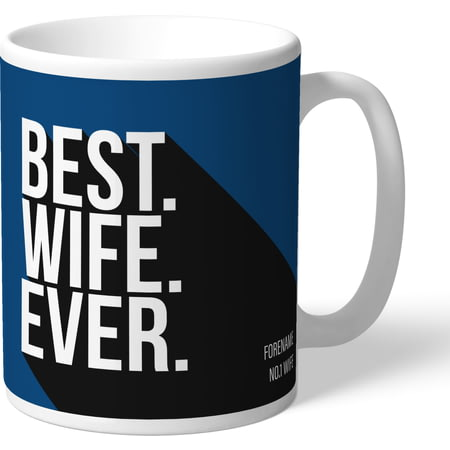 Personalised Cardiff City Best Wife Ever Mug