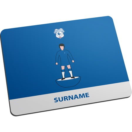 Personalised Cardiff City Player Figure Mouse Mat
