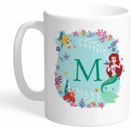 Personalised Disney Princess Ariel Initial Mug