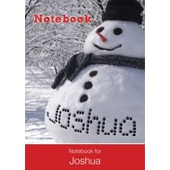 Personalised Frosty The Snowman Notebook