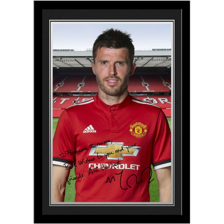 Personalised Manchester United FC Carrick Autograph Photo Framed