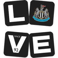 Personalised Newcastle United Love Coasters (x4)