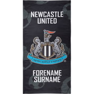 Personalised Newcastle United FC Crest Bath Towel - 80cm X 160cm