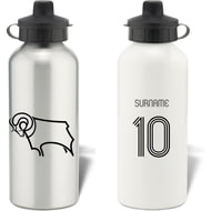Personalised Derby County Retro Shirt Aluminium Sports Water Bottle