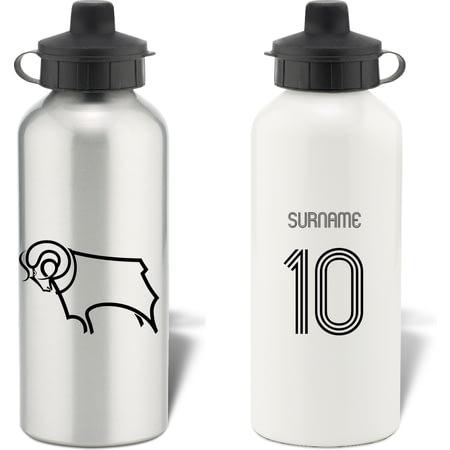 Personalised Derby County Retro Shirt Water Bottle
