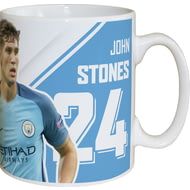 Personalised Manchester City FC Stones Autograph Mug