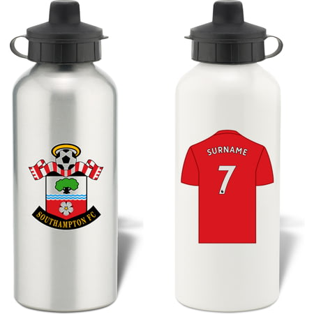 Personalised Southampton FC Shirt Aluminium Sports Water Bottle
