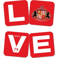 Personalised Sunderland AFC Love Coasters (x4)
