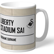 Personalised Swansea City AFC Street Sign Mug