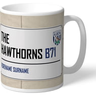 Personalised West Bromwich Albion FC The Hawthorns Street Sign Mug