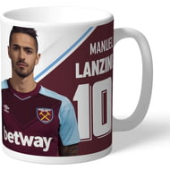 Personalised West Ham United FC Lanzini Autograph Mug
