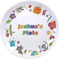 Personalised Cartoon Character Childrens Plate