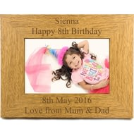 Personalised Engraved Landscape Wooden Photo Frame