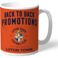 Personalised Luton Town FC Back To Back Promotions Mug