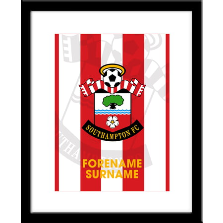 Personalised Southampton FC Bold Crest Framed Print