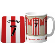 Personalised Sunderland AFC Dressing Room Shirts Mug & Coaster Set